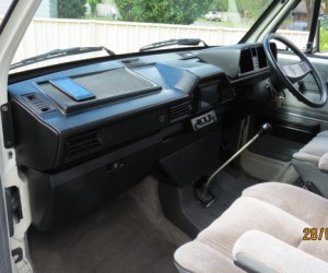 This modified Vanagon dashboard looks sweet