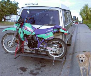 Vanagon motorcycle carrier