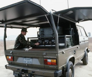 Synchro army truck with flip up side panels