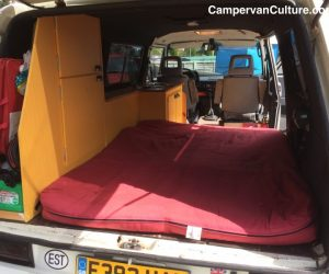 Vanagon with open rear closet