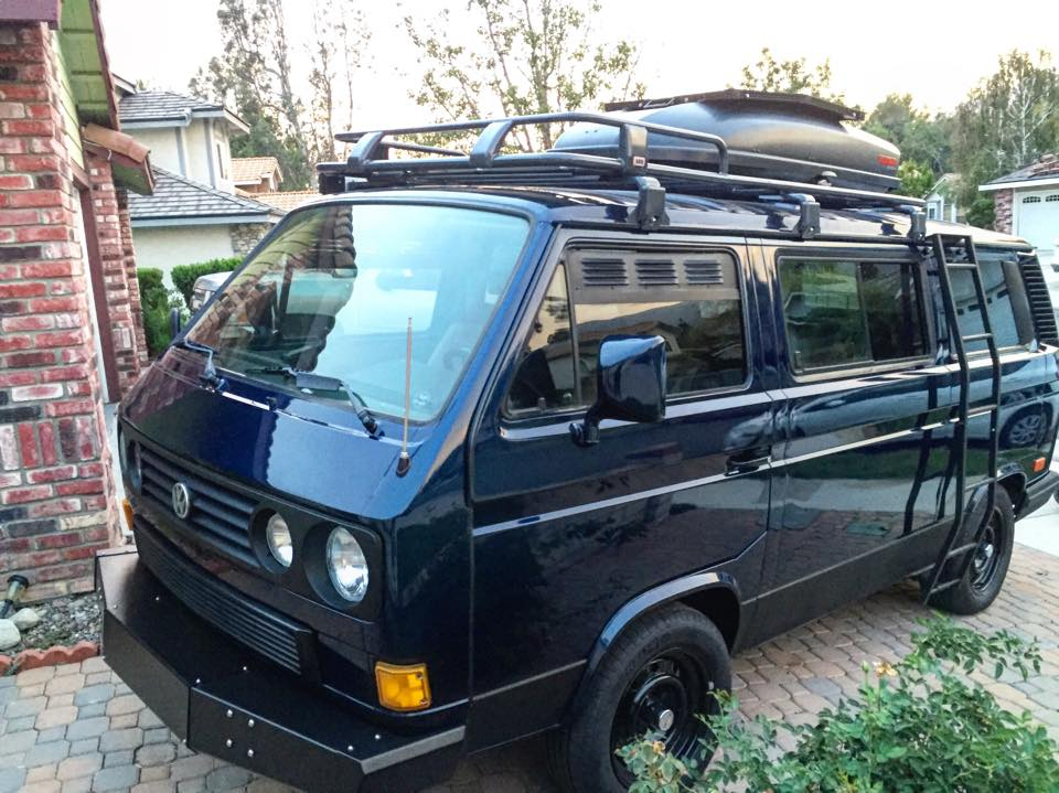 T25 High Top Awning Sky Blue High Top Camping Vw Vans