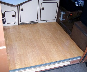 Pergo floor in the Vanagon