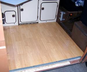 Pergo floor in the Vanagon