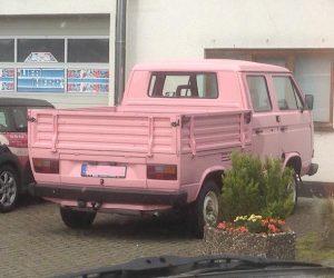 Pink Double Cab Vanagon Truck