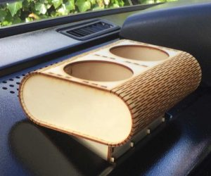 Plywood rounded cup holders