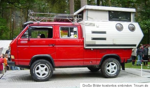 Pop Top Doka Camper With Two Port Holes Vanagon Hacks