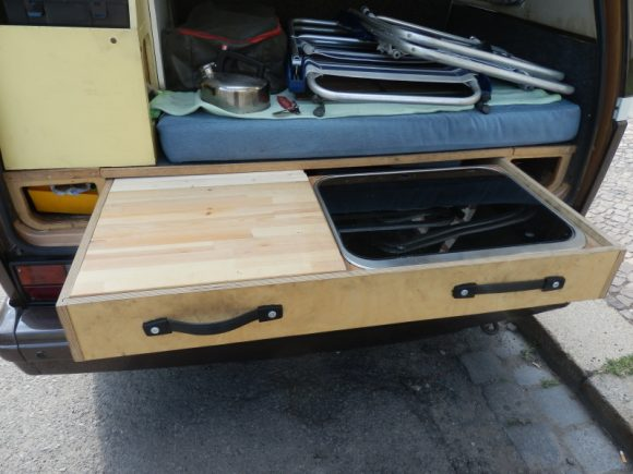 The rear pull out stove vanagon hacks mods