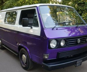 Two tone purple and white Vanagon