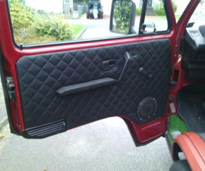 Quilted leather door panels