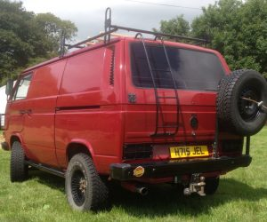 Red panel van with extras