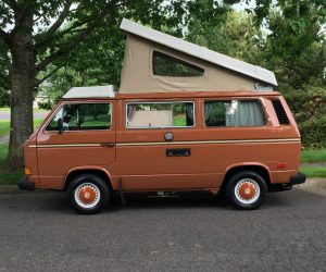 Assuan Brown Vanagon with matching hub caps