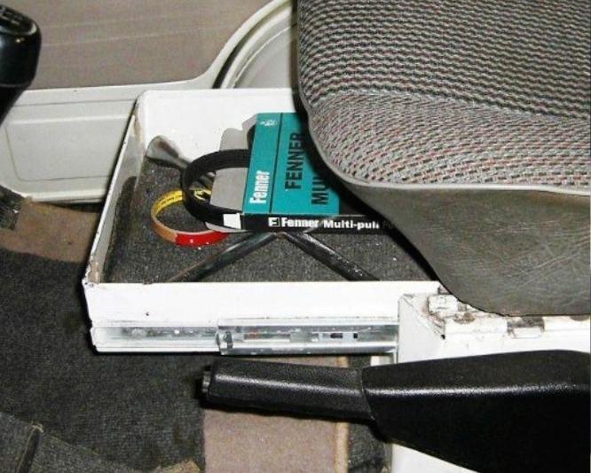 seat storage compartment vanagon hacks mods vanagonhackscom
