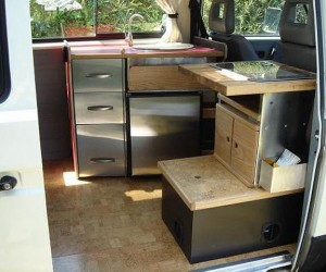 Stainless steel Vanagon kitchen