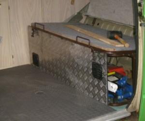 Checker plate steel interior