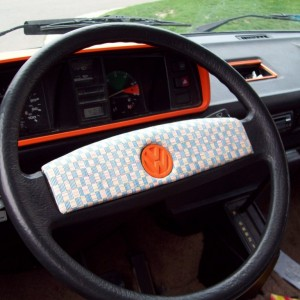 Steering wheel and dash color mod