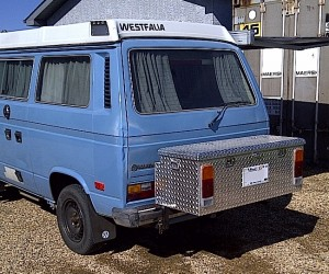 Custom swing out box for Vanagon
