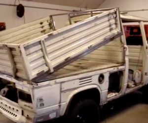 Syncro dump truck in action