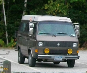 Truck mirrors on the Vanagon