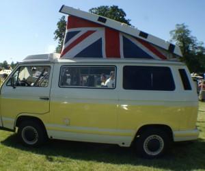 UK flag themed camper top