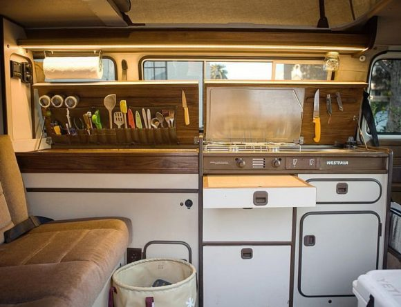 This Vanagon Kitchen Demonstrates A Nice Way To Organize Utensils And Keep  Them Out Of The Way. Nice Job!