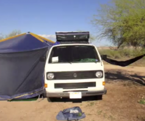 Vanagon tent setup in 3 minutes