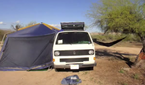 vanagon-tent-setup