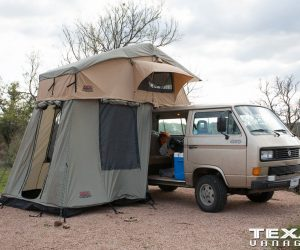 Tuff Stuff Roof Top Tent on the Vanagon