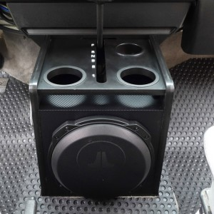 Add a subwoofer to a center console