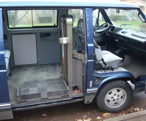 Wheelchair lifts in the Vanagon