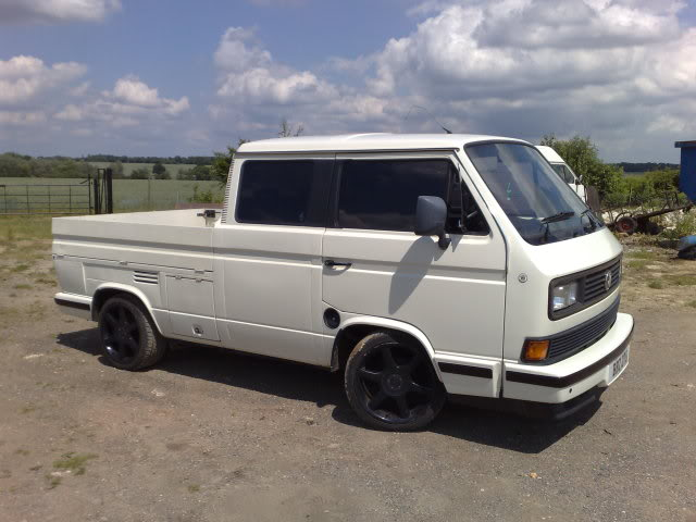 White Double Cab With Blackout Wheels Vanagon Hacks