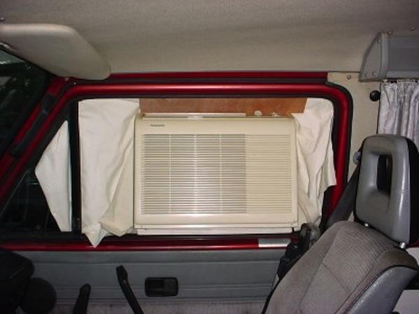 Window Unit Air Conditioner In A Vanagon Vanagon Hacks