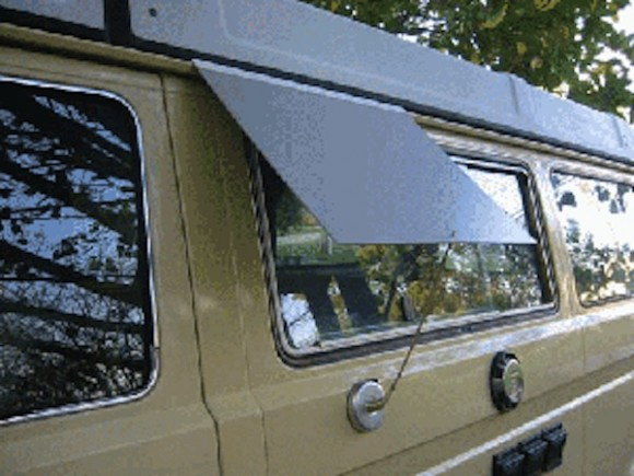 Vanagon kitchen window awning hack