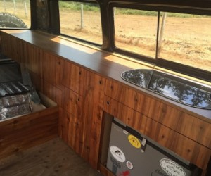 More custom wood Vanagon cabinets