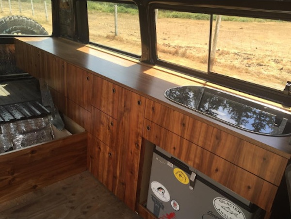 Under Seat Truck Storage >> More custom wood Vanagon cabinets | Vanagon Hacks & Mods ...