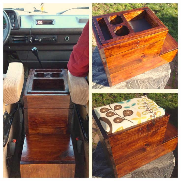Custom Center Console Made From Scrap Wood Vanagon Hacks