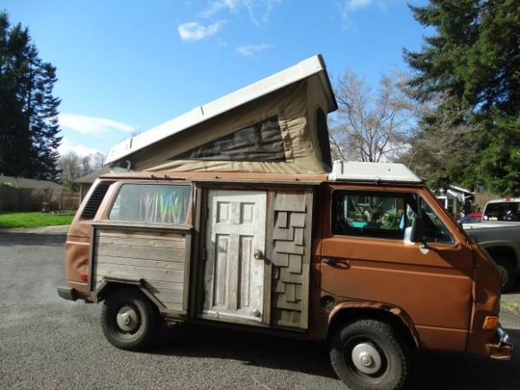 8843cc93f1 What happens when a Vanagon owners loves his log cabin so much he wants the  same door on his Vanagon  This van looks crazy