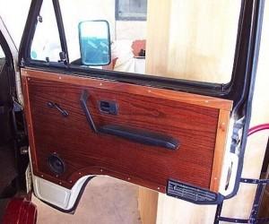 Custom wood door panel