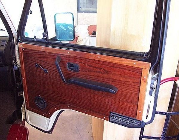 custom wood door panel vanagon hacks mods. Black Bedroom Furniture Sets. Home Design Ideas