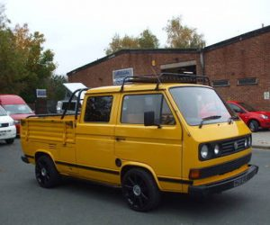 VW T25 double cab with 18 inch Audi wheels